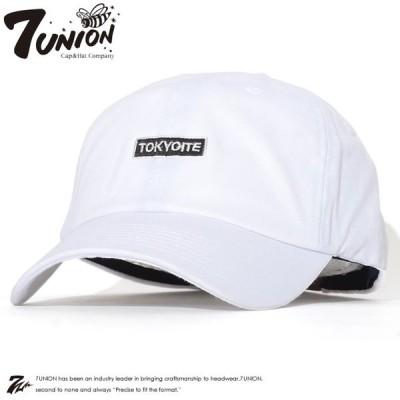 7UNION セブンユニオン キャップ 帽子 レザーストラップバック ボックスTOKYOITE刺繍 -(IPVW-118) セール