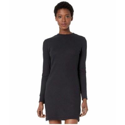 オルタナティヴ ワンピース トップス レディース Thermal Long Sleeve Dress Black