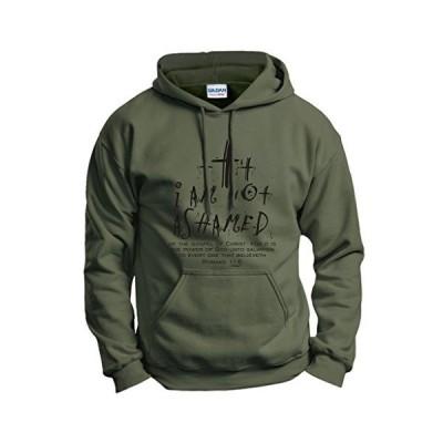 海外より出荷【並行輸入品】クリスチャン ギフト I Am Not Ashamed Romans Verse パーカー スウェットシャツ US サイズ: