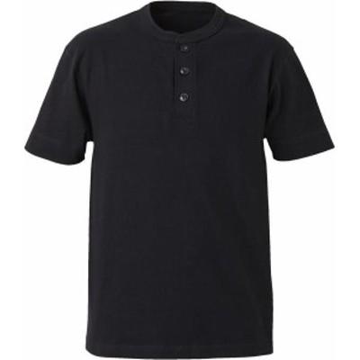ユナイテッドアスレ カジュアル 5.6オンス ヘンリーネックTシャツ 16 ブラック Tシャツ(500401-2)