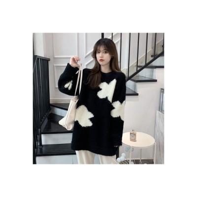 【送料無料】セーター 手厚い 女 秋冬 ルース アウトドア ミディ丈 ヘッジ 怠 | 364331_A64242-2161743
