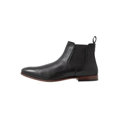 バートン ブーツ&レインブーツ メンズ シューズ BANKS CHELSEA - Classic ankle boots - black