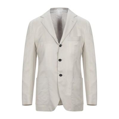 KITON テーラードジャケット ライトグレー 50 コットン 61% / リネン 39% テーラードジャケット