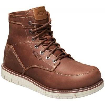 キーン KEEN Utility メンズ ブーツ ワークブーツ シューズ・靴 San Jose 6' Soft Waterproof Work Boot Gingerbread/Off White Leather