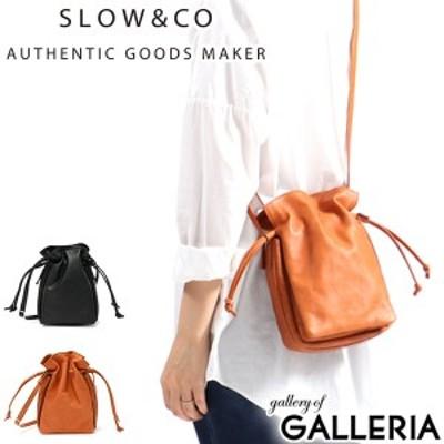 【商品レビューで+5%】スロウ ショルダーバッグ SLOW バッグ horse pit ホースピット smart draw string shoulder bag 本革 300S103I