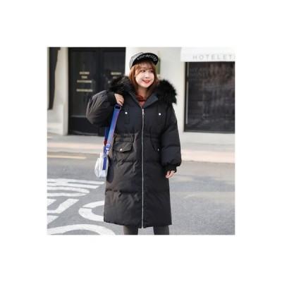 レディース 中綿コート ロング丈 ダウン風コート ファーフード付き 大きいサイズあり 中綿ジャケット おしゃれ 厚手 防風 防寒 アウター
