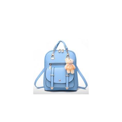アミュレット Amulet ハンド・ショルダー・リュックの3WAYバッグ (ライトブルー)