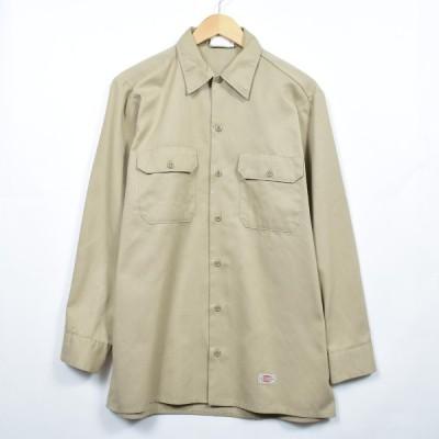 ディッキーズ 長袖 ワークシャツ USA製 メンズM /eaa032707