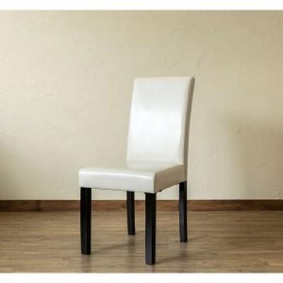 〔アウトレット品〕 PUダイニングチェア/食卓椅子 〔同色2脚入り アイボリー〕 張地:合成皮革/合皮 〔送料無料〕