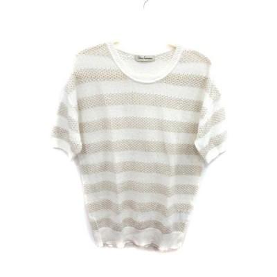 クリアインプレッション CLEAR IMPRESSION カットソー Tシャツ 半袖 ボーダー 2 白 ホワイト /YI レディース【中古】【ベクトル 古着】