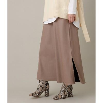 【アダム エ ロペ/ADAM ET ROPE'】 【WEB限定】エコレザークロススカート