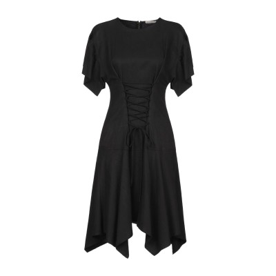 ULLA JOHNSON ミニワンピース&ドレス ブラック 10 指定外繊維(テンセル)® 46% / 麻 30% / コットン 24% ミニワンピ
