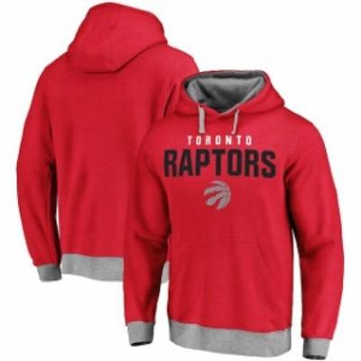 Fanatics Branded ファナティクス ブランド スポーツ用品  Toronto Raptors Red Essentials Clean Color Logo Pullover Hoodie