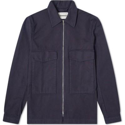 ア カインド オブ ガイズ A Kind of Guise メンズ シャツ オーバーシャツ トップス Lir Overshirt Navy Herringbone