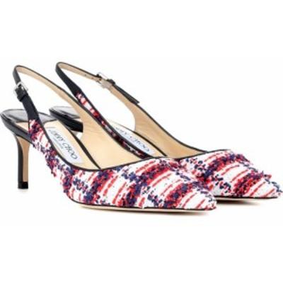 ジミー チュウ Jimmy Choo レディース パンプス シューズ・靴 erin 60 tweed slingback pumps white/red/navy