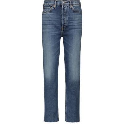 リダン RE/DONE レディース ジーンズ・デニム ボトムス・パンツ Stove Pipe Ultra High-Rise jeans Broken in Dark