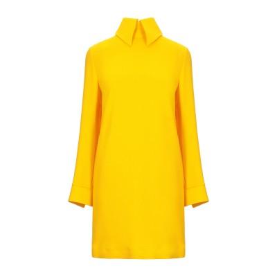 エリカ カヴァリーニ ERIKA CAVALLINI ミニワンピース&ドレス イエロー 38 ポリエステル 100% ミニワンピース&ドレス