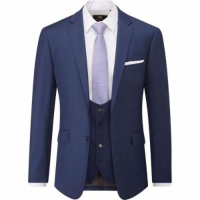 スコープス Skopes メンズ スーツ・ジャケット アウター Milan Slim Fit Suit Jacket Blue
