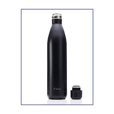 D'eau マットウォーターボトル 真空断熱二重壁 18/8ステンレススチール BPAフリー 再利用可能 リサイクル