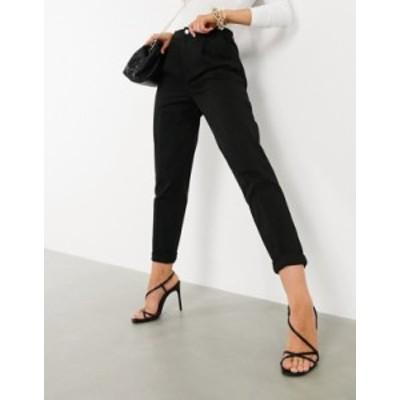 エイソス レディース カジュアルパンツ ボトムス ASOS DESIGN chino pants in black Black