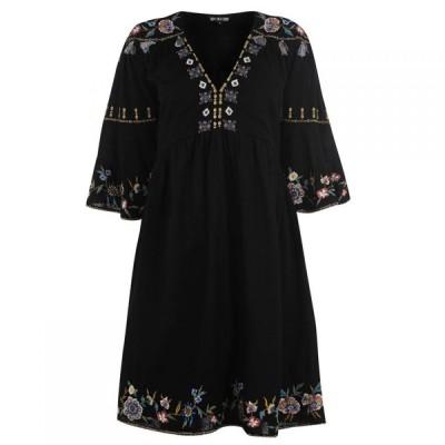 ビバ Biba レディース ワンピース ワンピース・ドレス Tassel Embroidered Dress Black