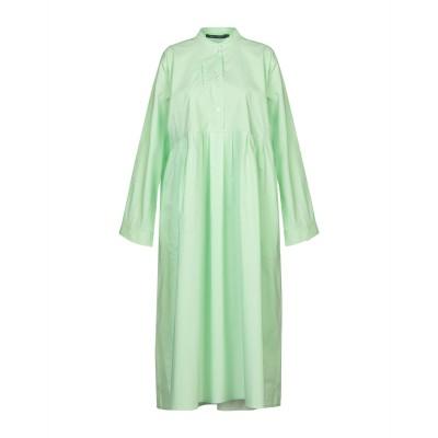 ソフィー・ドール SOFIE D'HOORE 7分丈ワンピース・ドレス ライトグリーン 36 コットン 100% 7分丈ワンピース・ドレス