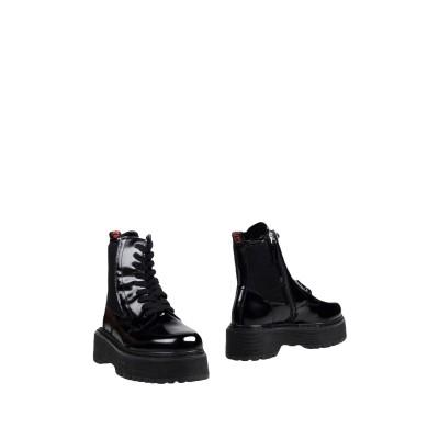 MY TWIN TWINSET ショートブーツ ブラック 40 革 / 紡績繊維 ショートブーツ