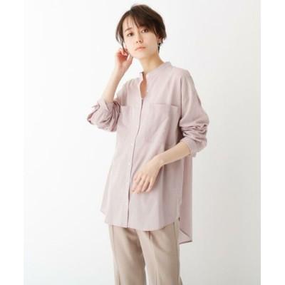 OPAQUE.CLIP/オペーク ドット クリップ スーパーハイカウントコットン シアービッグシャツ サンドベージュ(053) 40(L)