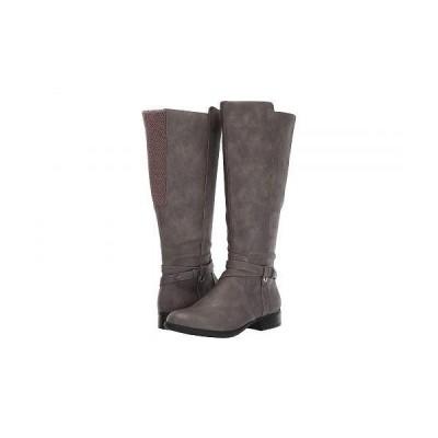LifeStride ライフストライド レディース 女性用 シューズ 靴 ブーツ ロングブーツ Xtrovert - Wide Calf - Grey