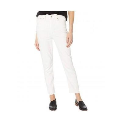 Madewell レディース 女性用 ファッション ジーンズ デニム Perfect Vintage in Tile White w/ Raw Hem - Tile White