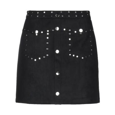 CARE OF YOU ひざ丈スカート ブラック S/M ポリエステル 90% / ナイロン 10% ひざ丈スカート