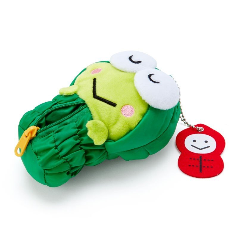 大眼蛙 Keroppi 造型零錢包附鍊-晴天娃娃,收納包/文具包/隨身包/手拿包/零錢包,X射線【C474211】