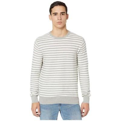 ジェイクルー メンズ ニット・セーター アウター Cotton Crewneck Sweater in Striped Garter Stitch