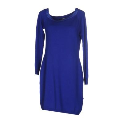 リュー ジョー LIU •JO ミニワンピース&ドレス ブルー 46 レーヨン 55% / ナイロン 25% / ウール 15% / ポリウレタン