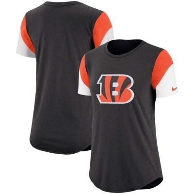 ナイキ レディース Tシャツ トップス Cincinnati Bengals Nike Women's Tri-Blend Team Fan T-Shirt