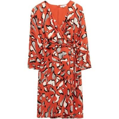 グレート プレインス Great Plains レディース ワンピース ラップドレス ワンピース・ドレス Vivien Abstract Long Sleeve Wrap Dress Burnt Clay Combo
