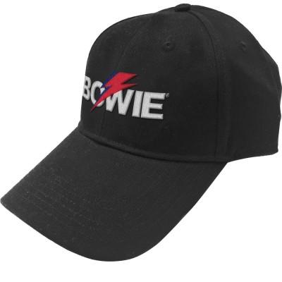 DAVID BOWIE デヴィッド・ボウイ (追悼5周年 ) - Aladdin Sane Bolt Logo / キャップ / メンズ 【公式 / オフィシャル】