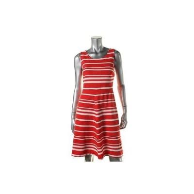 インク ドレス ワンピース INC 7867 レディース レッド Textuレッド ストライプd ノースリーブ カジュアル ドレス XL BHFO