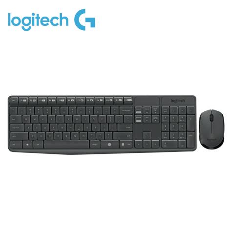 羅技Logitech MK235 無線鍵鼠組/簡約無邊全鍵盤設計/光學追蹤/電池壽命達12個月