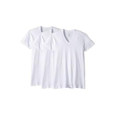 ツーイグジスト メンズ シャツ トップス 3-Pack ESSENTIAL Slim Fit V-Neck T-Shirt