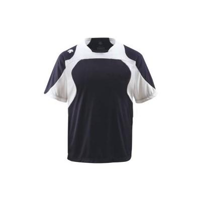 DESCENTE(デサント) ベースボールシャツ DB115 Sネイビー×Sホワイト×ホワイト(SNSW) XO
