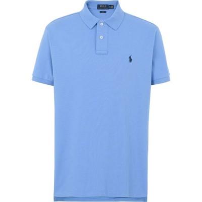 ラルフ ローレン POLO RALPH LAUREN メンズ ポロシャツ トップス slim fit mesh polo shirt Pastel blue