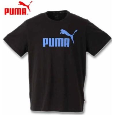 大きいサイズ PUMA エッセンシャルロゴ半袖Tシャツ プーマブラック 2XL 3XL 4XL 5XL 6XL/1278-0260-2-39
