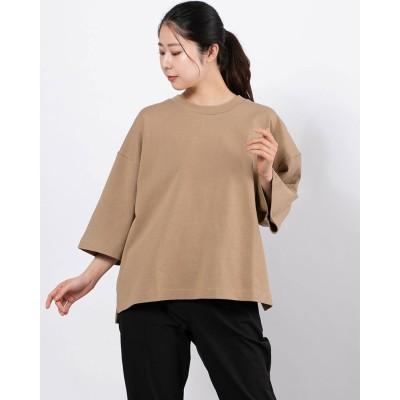 ティゴラ TIGORA レディース 半袖Tシャツ TR-9C2241TS (ベージュ)