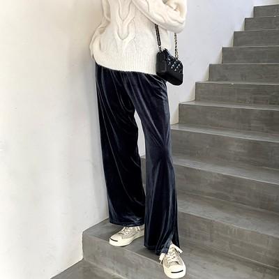 スウェーデンクリーニング店ビックサイズベルベットのワイド・パンツ 楽たいSW1325