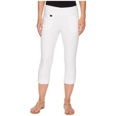 リゼッタ Lisette L Montreal レディース クロップド ボトムス・パンツ Solid Magical Lycra Capri Pants White