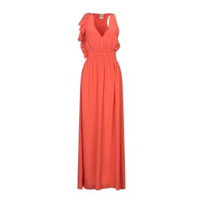ヌード NUDE ロングワンピース&ドレス コーラル 38 シルク 100% ロングワンピース&ドレス