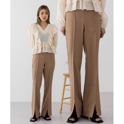 UNE MANSION / [UNEORIGINAL]フロントスリットブーツカットパンツ WOMEN パンツ > スラックス