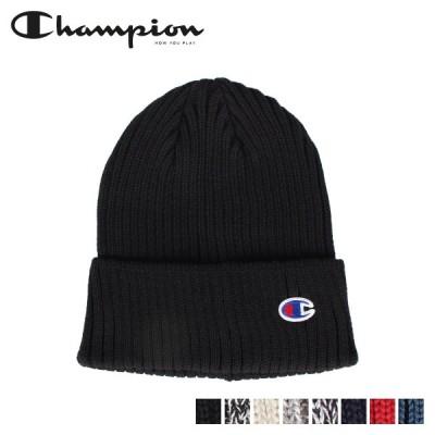 チャンピオン Champion ニット帽 ニットキャップ ビーニー メンズ レディース 無地 KNIT CAP ブラック アイボリー グレー ネイビー 590-002A