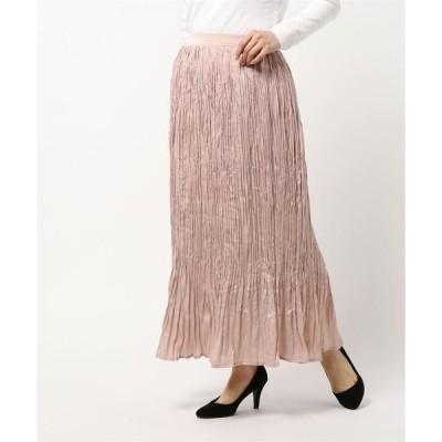 スカート サテン スカート